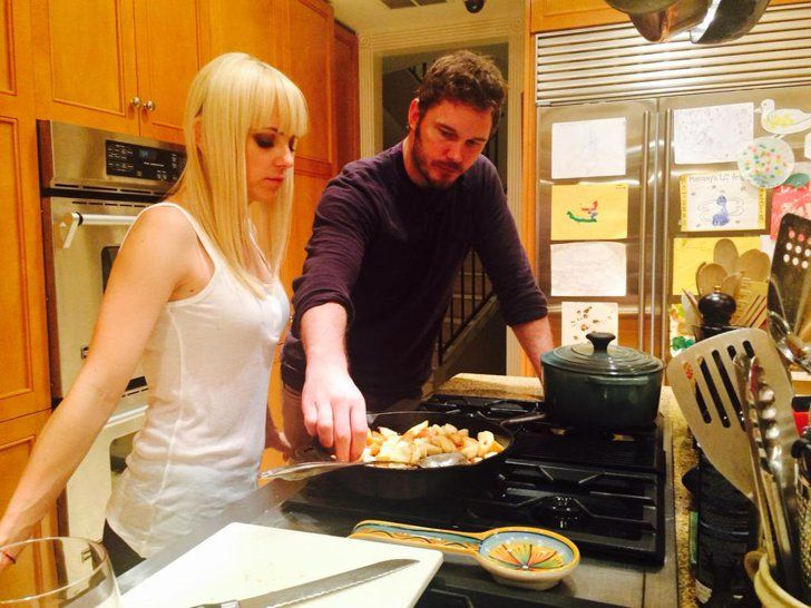 "Pin for Later: Chris Pratt and Anna Faris's Son, Jack, Is Such a Gem  Anna: ""Alls well, 2015 began with fried bread. Happy new year!"""