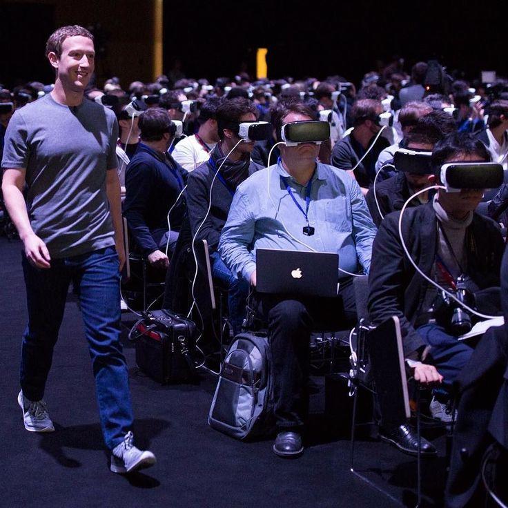 An awesome Virtual Reality pic! Witamy w przyszłości // Welcome to the future (photo credit: Mark Zuckerberg's @zuck FB profile)  #vr #virtualreality #samsung #s7 #samsunggear #facebook #oculusrift #future #tech #technology #creepy #followyourleader by marekmiller check us out: http://bit.ly/1KyLetq