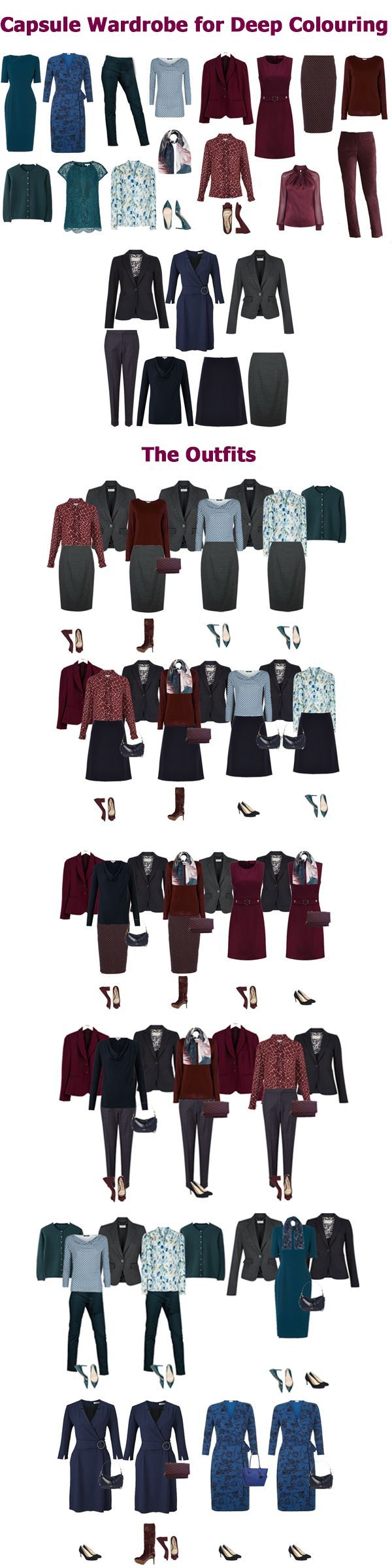 Autumn business wear capsule wardrobe example