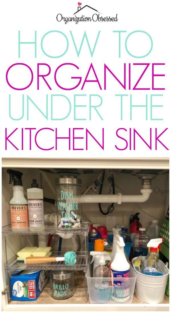 How To Organize Under The Kitchen Sink Organization DIY Ideas