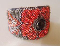 Poppy Fields cuff bracelet