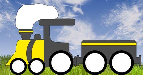 Die Eisenbahn und ihr Wagon lässt sich schnell basteln und ...