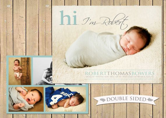 227 best Modern Birth Announcements images – Birth Announcements Etsy