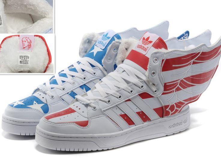Adidas jeremy scott wings 20 usa flag plus wool nike