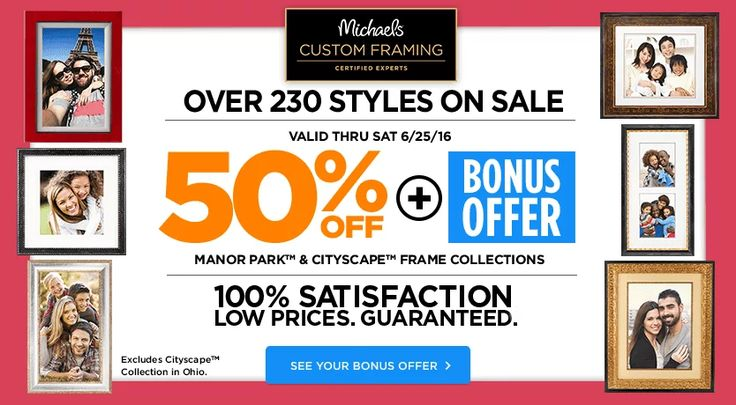 50 bonus offer manor park cityscape frame collections michaels craft store coupons discounts pinterest store coupons craft stores and