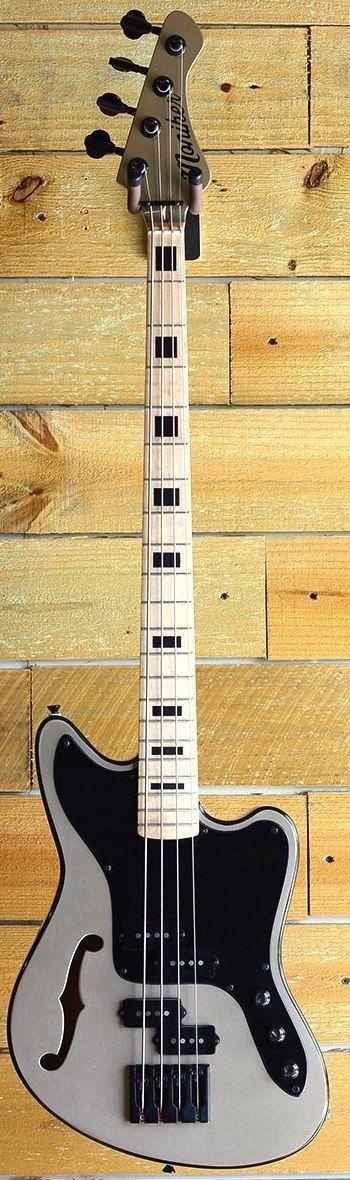 Moniker Zuma semi hollow Bass --- https://www.pinterest.com/lardyfatboy/ (love the design thing on the site but only pine guitars that actually exist)