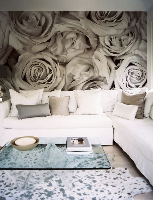 grey rose wall paper. And conveniently my middle name is Rose and my favorite color is Grey. :)