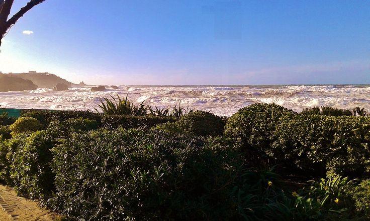 Les vagues en mouvement ce jour sur l'Atlantique, le soleil brille. On ne se lasse pas du spectacle ! #vacances #aquitaine #landes #biarritz