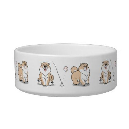 Chow Chow Dog Cartoon Pet Bowl - home gifts ideas decor special unique custom individual customized individualized