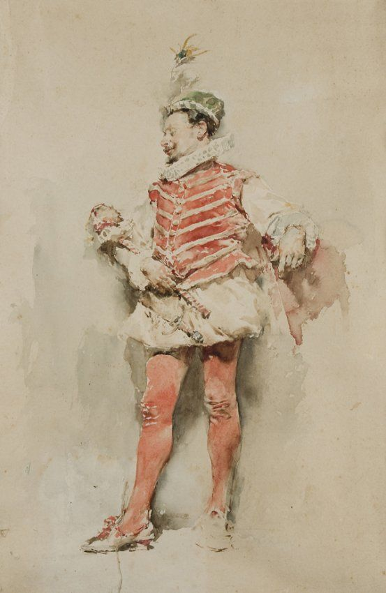 Mariano Fortuny y Marsal (1838 - 1874) Uomo in costume