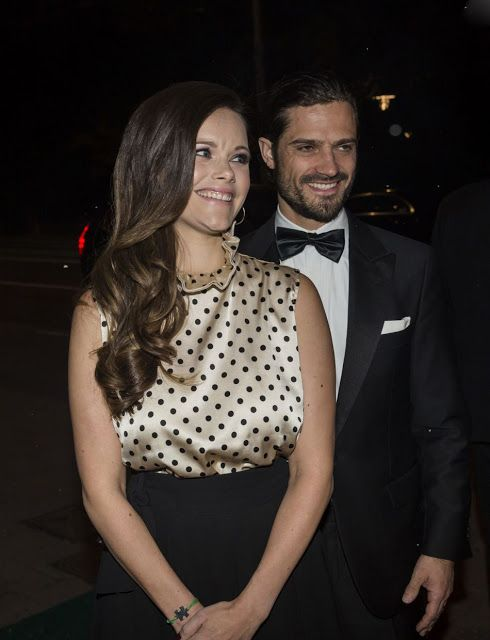 Prince Carl Philip and Princess Sofia of Sweden at the Annual Project Playground Dinner, Stockholm, October 20, 2017