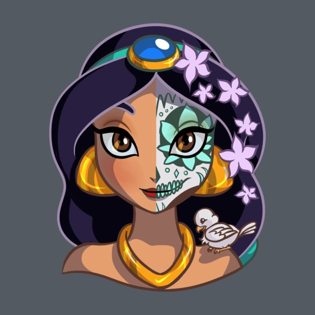 Awesome 'Sugar+Skull+Series%3A+Jasmine' design on TeePublic!