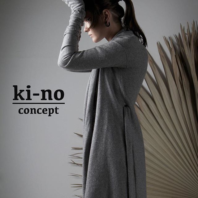 KI-NO concept A/W collection. Knitted wool coat-cardigan. Overlong sleeves with extra gloves. ▫️ worldwide shipping - www.kinoconcept.com ▫️онлайн магазин - www.kinoconcept.ru #kinoconcept