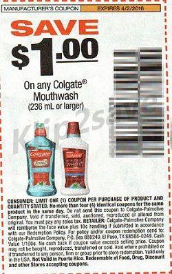 Colgate-cupon EMPEZANDO 3/27: Enjuague Colgate Total GRATIS en Walgreens
