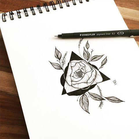 Peony (for sale as unique design!) #illustration #illustrator #design #sketch #drawing #draw #blackwork #blackworkers #iblackwork #ink #tattoo #art #artwork #artist #artistic #instaart #tattoodesign #flower #floral #botanical #peony #instafollow #evasvartur #triangle #blackandwhite #minimal