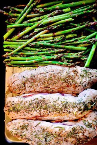 Preparing Rosemary Grilled Pork Tenderloin. Olive oil, salt & pepper and fresh rosemary is all you need for this amazing recipe that feeds a crowd!