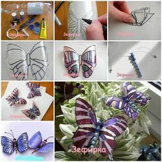 DIY Beautiful Butterflies from Plastic Bottles #DIY #craft #recycling