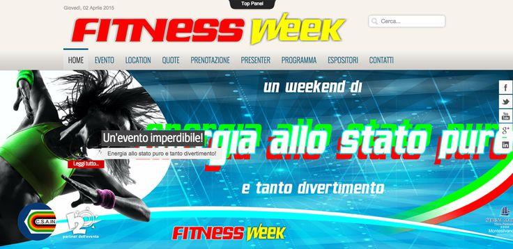 Realizzazione sito web Fitness Week. Settore Sport: http://www.eventi-fitness.it/