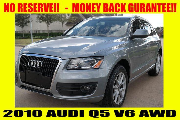 Car brand auctioned:Audi Q5 NO RESERVE ~ HIGH BID WINS ~ MONEY BACK GUARANTEE! 2010 Car model audi q 5 quattro awd clean title no reserve money back guarantee