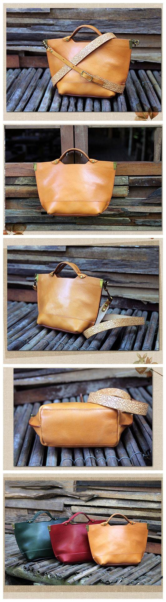 Handmade Brown Leather Messenger Bag Handbag Shoulder Bag Satchel