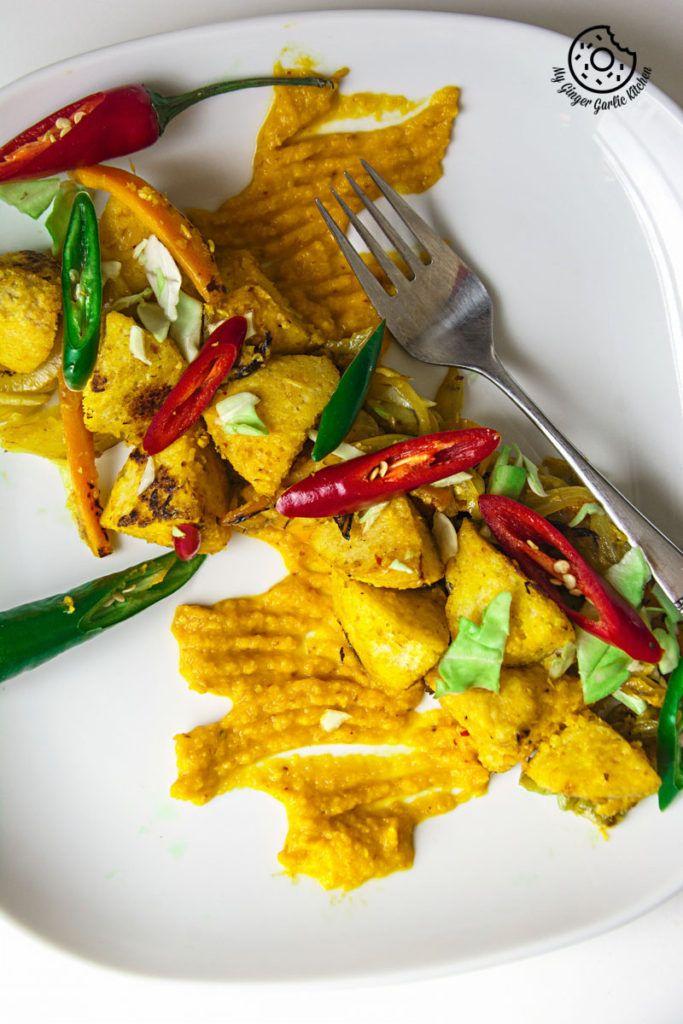 Radish Lentil Idli Fry With Carrot Ginger Chutney   mygingergarlickitchen.com/ @anupama_dreams