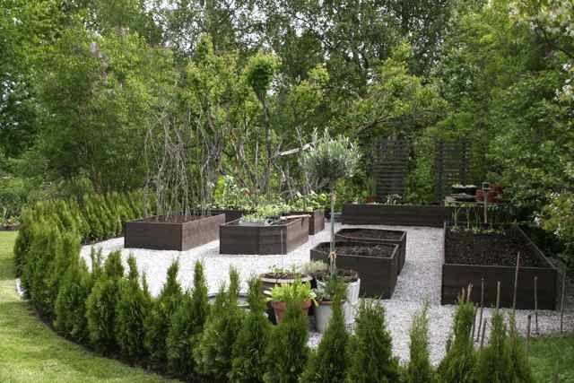 Planter box raised garden in Sweeden