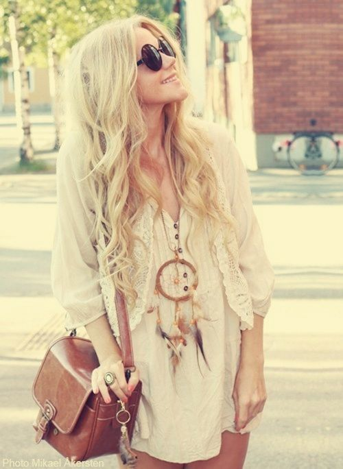 Sexy lace boho chic dress, ethnic tribal inspired chunky necklace for a modern hippie look with hot thigh high socks. Description from pinterest.com. I searched for this on bing.com/images