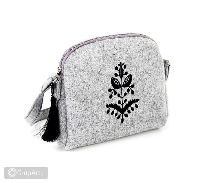 Torebka filcowa Mini kłos 09 #torebka #handmade #grupart Inne ręcznie robione torebki dostępne na : http://www.grupart.pl/torebki-142.html