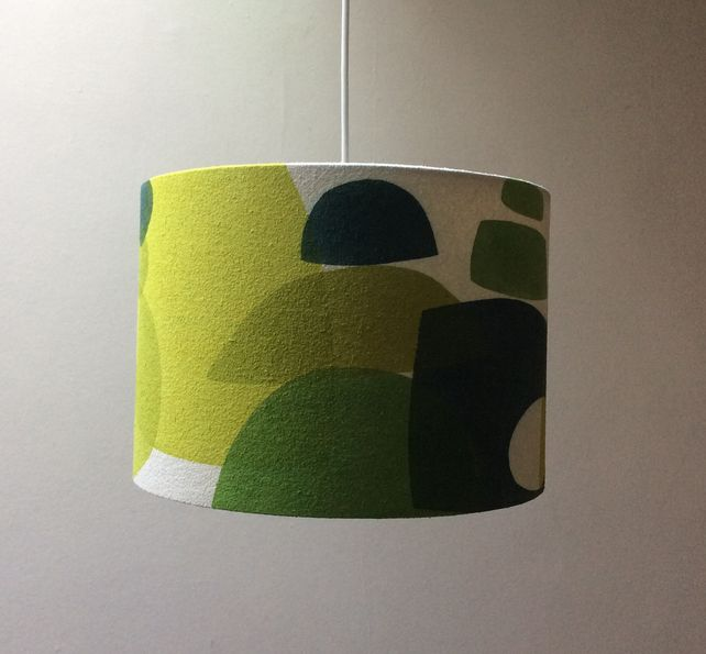 Topiary Garden. Hand painted 30cm Lampshade in Green £65.00