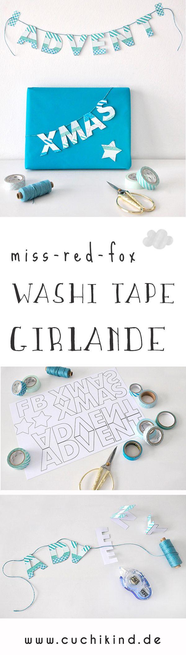 Buchstaben aus Washi Tape für Girlanden oder Geschenkverpackungen. #washitape #geschenkverpackung #girlande #buchstaben #geschenk