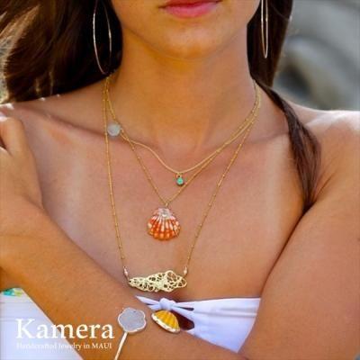 シーフォーム ネックレス ゴールド 14K Vermail [ Kamera Jewelry / カメラジュエリー ハワイ ]