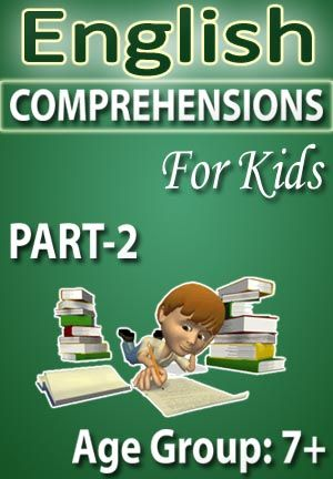 ENGLISH COMPREHENSIONS FOR KIDS-PART-2 Read the comprehension carefully then answers the questions Each comprehension is followed by multiple choice questions. 1. Daredevil Danny 2. Dirty David 3. Do you have a wish 4. Dolphin 5. Drake's Dirt bike 6. Elephant 7. Fishing with Grandpa 8. Indian Dance 9. Linda's house 10. My three house   PRICE :- RS.61.00