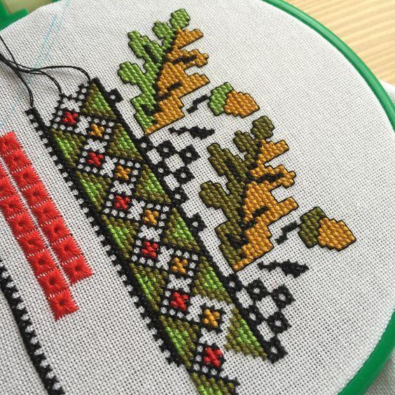 Ukrayna Kültürü Ulusal Kıyafetleri Ukrayna Kültürünün en önemli sembollerinden biri olan Ulusal Kıyafetleri n Kesim Biçimlerinin, Nakı... etamin cross stitch