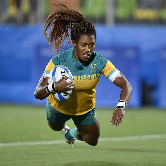GOLD MEDAL: Australia's women's rugby sevens team win GOLD by defeating New Zealand, 24-17.