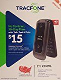 #7: TracFone - ZTE Z233VL 4G LTE with 4GB Memory Cell Phone - Dark Gray