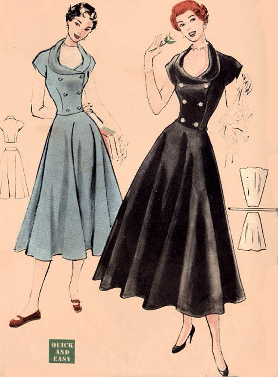 Vintage 40s Butterick 5428 SWING ERA Weskit blouse by sandritocat, $28.00