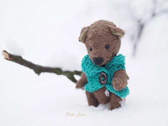 авторская игрушка мишка Teddy бурый медведь мишка от PetsLair