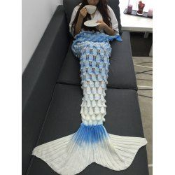SHARE & Get it FREE | Creative Openwork Design Ombre Color Knitted Mermaid BlanketFor Fashion Lovers only:80,000+ Items • FREE SHIPPING Join Twinkledeals: Get YOUR $50 NOW!