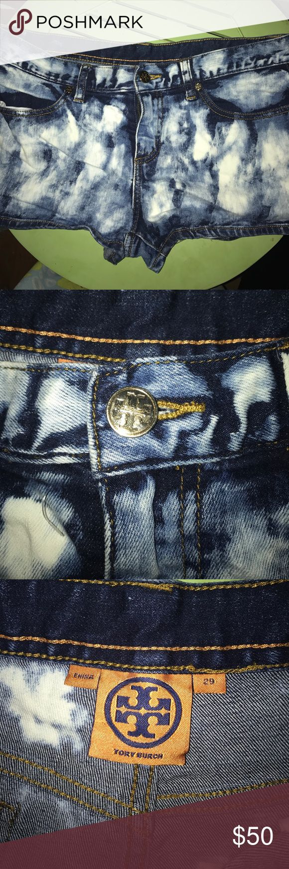 Bleached jean shorts Tory burch, bleached jean shorts Tory Burch Shorts Jean Shorts