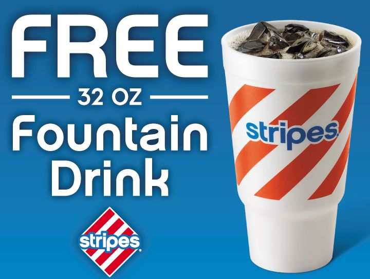 Free 32 oz. Fountain Drink at Stripes Convenience Stores