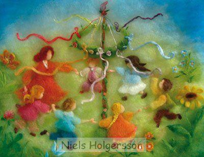Niels Holgersson-antroposofische poppen,seizoentafels,wolvilt,sprookjesvilt,viltnaald,poppentricot.