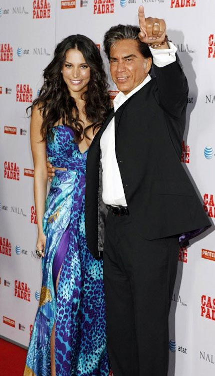 Genesis Rodriguez with her dad...