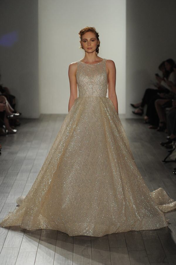 Details About Glitter Lazaro 3714 Inspired Wedding Dress Lazaro