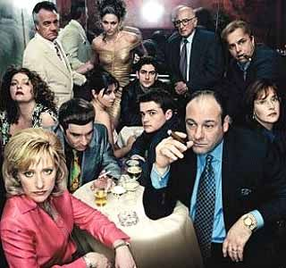 The Sopranos, some people say, this might be the best tv series ever, not for me, I beg to differ, as I think its The Wire, but its very good. If you are into good written drama in the world of the mafia, than this is something for you.