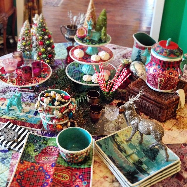 """setting up for Bed Bath & Beyond holiday video shoot ~ this is our whimsical folklore Christmas collection now live @ www.bedbathandbeyond.com { and in case you are wondering ~ I am indeed caroling ~ falalalala } xx #tracyporter #poeticwanderlust #folklorechristmas #bedbathandbeyond"""
