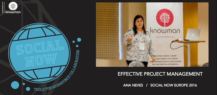 Watch Ana Neves's practical recommendations for improving project management effectiveness through better use and retention of knowledge (Social Now 2016)