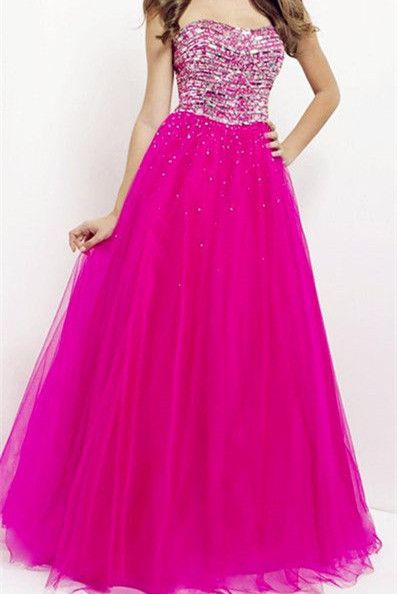 19b1146054 Charming Strapless Tulle Prom Dress