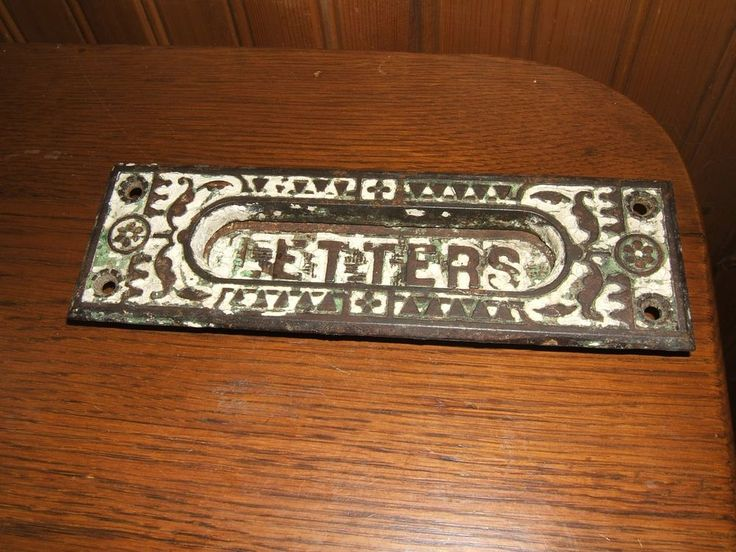 Antique Cast Iron Raised Print Letters Door Slot Hinged Insert Mail Letter  Slot - 171 Best Vintage Post Office Images On Pinterest Mail Boxes