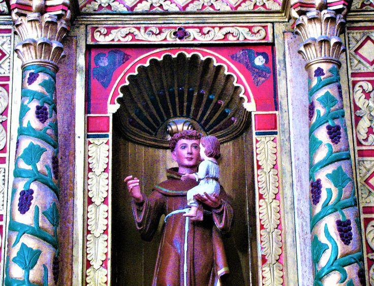 San Bernardino de Siena Franciscan monastery: Vallodid, Yucatan---St. Anthony of Padua