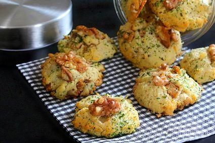 Cookies salés gorgonzola noix